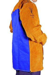 Kožený kabát svářečský žluto-hnědý