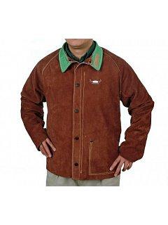 Kožený kabát svářečský hnědý