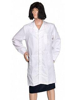 Plášť  dámský bílý dlouhý rukáv