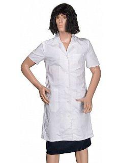 Plášť  dámský bílý krátký rukáv