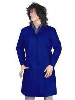 Plášť  dámský modrý dlouhý rukáv