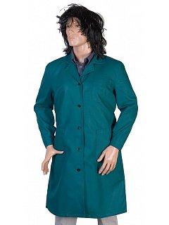 Plášť dámský zelený dlouhý rukáv