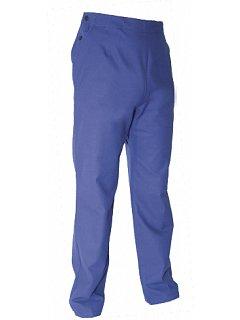 Kalhoty do pasu dámské modré