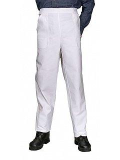 Kalhoty do pasu  dámské bílé