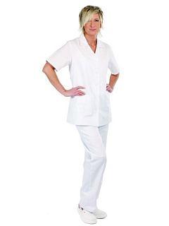 Dámská halena LILY bílá s krátkým rukávem