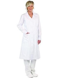 Dámský plášť VERIS bílý s dlouhým rukávem