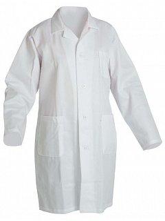 Plášť FERN pánský bílý dlouhý rukáv