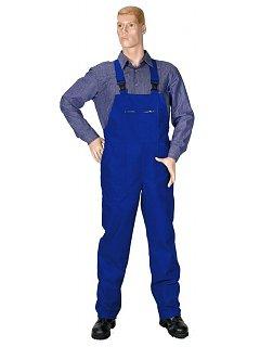 Kalhoty s náprsenkou pánské modré 270gr.