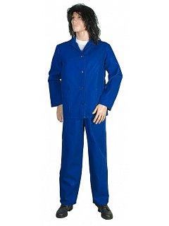 Komplet dámský modrý  kalhoty s náprsenkou