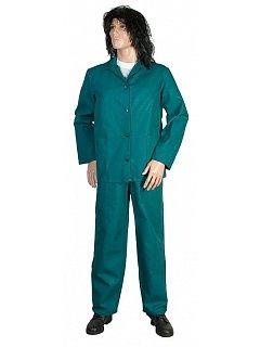 Komplet dámský zelený - kalhoty s náprsenkou