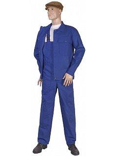 Komplet pánský  kalhoty s náprsenkou modrý