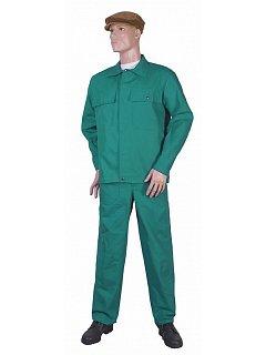 Komplet pánský kalhoty s náprsenkou zelený