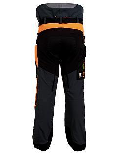 Kalhoty strečové Forestprofi do pasu šedo-oranžové
