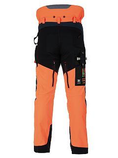 Kalhoty strečové Forestprofi do pasu oranžovo-šedé