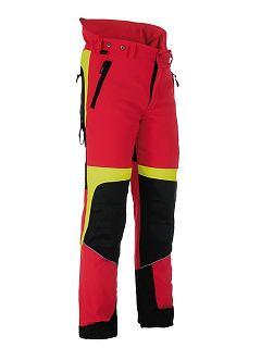 Kalhoty strečové Forestprofi do pasu červeno-žluté