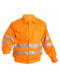 Reflexní bunda KOROS oranžová PES/BA