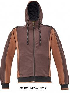 Mikina DAYBORO pánská na zip s kapucí