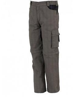 Kalhoty ZIP zelené káro