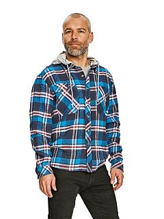 Košile LUCAN flanelová s kapucí