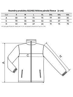 Mikina pánská fleece