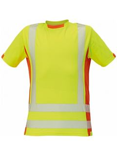 Tričko LATTON HV žlutá-oranžová