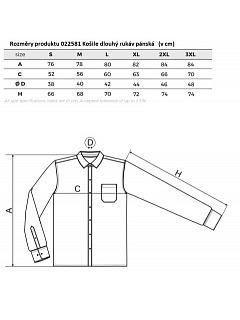 Košile dlouhý rukáv pánská