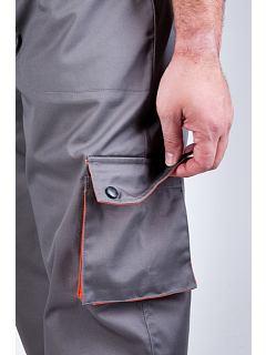 Kalhoty do pasu Desman šedo-oranžové