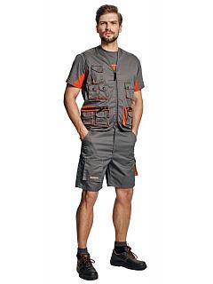 Kalhoty  DESMAN krátké šedé