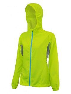 Dámská bunda větrovka reflexní žlutá