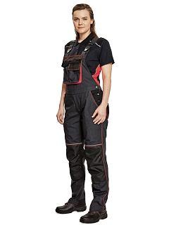Kalhoty dámské pracovní s laclem KNOXFIELD