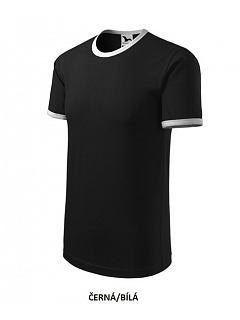 Tričko unisex s kontrastním lemem