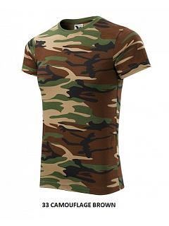 Tričko camouflage unisex 100% BA