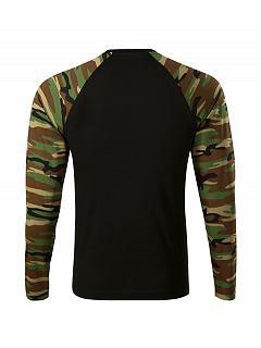 Triko camouflage unisex dlouhý rukáv 100% BA