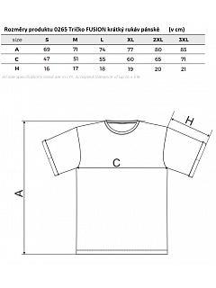 Tričko FUSION krátký rukáv pánské