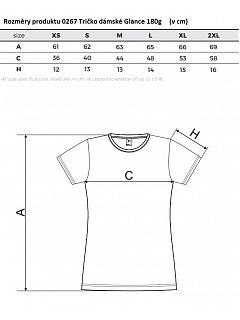 Tričko dámské Glance 180g