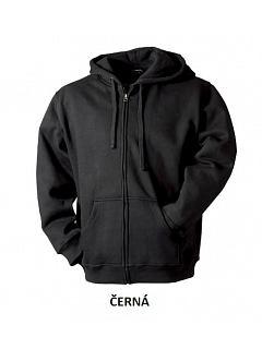Mikina pánská s kapucí, zip, 285g