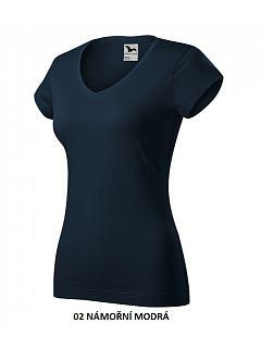 Tričko dámské SLIM FIT do V 180g