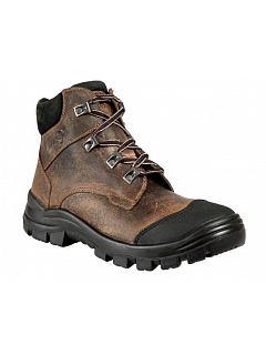 Kotníková obuv hlazenice hnědá O1