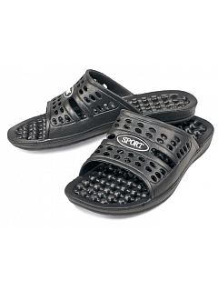 Pantofle CARBIS do sprchy černé