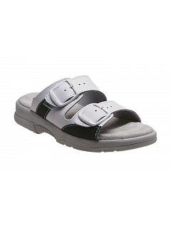 Zdravotní pantofle dámské bílé