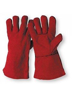 Rukavice SANDPIPER RED svářečské hovězí štípenka - červené