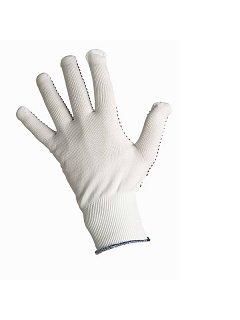 Rukavice GANNET nylon- úplet s PVC terčíky