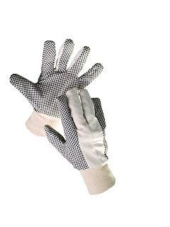 Rukavice OSPREY režná bavlna - PVC puntíky