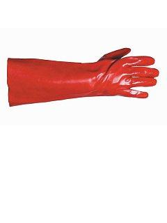 Rukavice REDSTART PVC na bavlněném úpletu 45cm