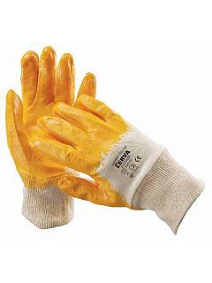 Rukavice HARRIER nitrilové na bavlněném úpletu, žluté