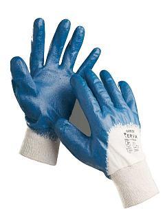 Rukavice HARRIER nitrilové na bavlněném úpletu, modré