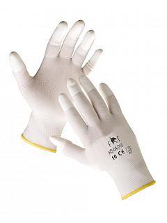 Rukavice FF LARK LIGHT PU prsty bílá