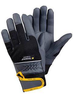 Rukavice umělá kůže/nylon suchý zip  TEGERA® 9105