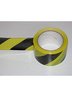 Výstražná páska žlutočerná 500m