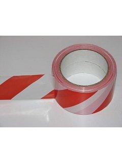 Výstražná páska červeno-bílá 100 m